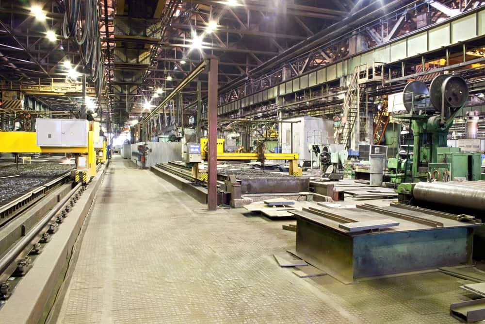 Workshop of machine plant